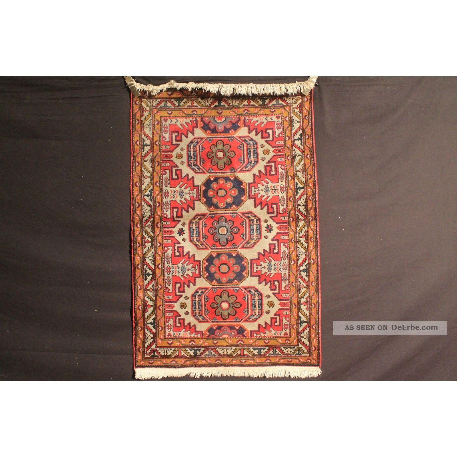 Antiker Handgeknüpfter Orient Sammler Teppich Derbent Kazak Carpet Antique Teppiche & Flachgewebe Bild