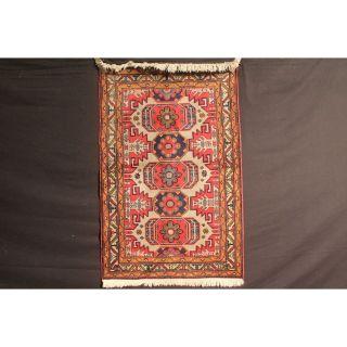 Antiker Handgeknüpfter Orient Sammler Teppich Derbent Kazak Carpet Antique Bild