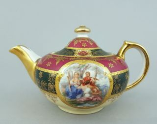 Teekanne Im Wiener Stil,  Bienenkorbmarke,  Wohl Böhmen Um 1900,  Inhalt 0,  4 Liter Bild