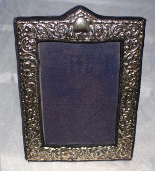 Bilderrahmen Aufstellrahmen Silber 925 Blauer Samt Für 9x13 Cm Bilder Bild