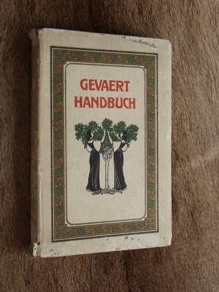 Altes Buch Gevaert Handbuch 1916 Carl Hackl Herstellung Alter Fotos Bild