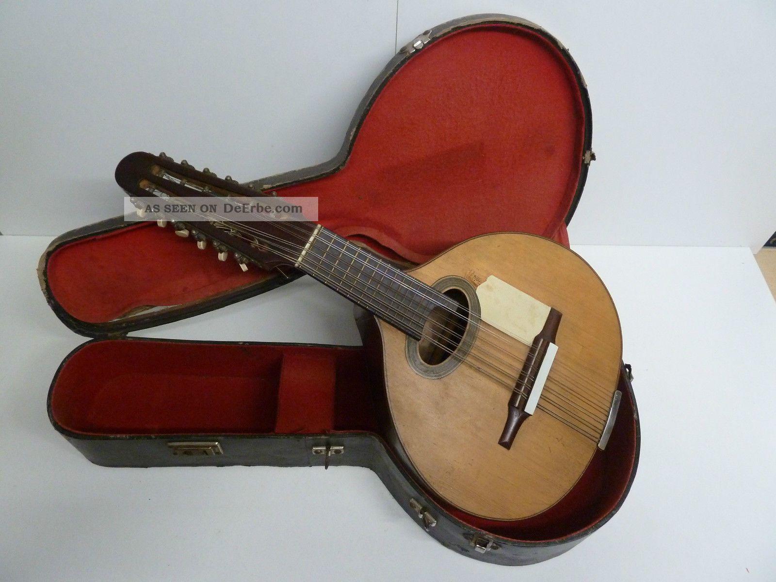 Alte Gitarre Aus Madrid - Spanien Musikinstrumente Bild