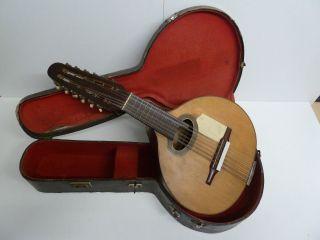 Alte Gitarre Aus Madrid - Spanien Bild