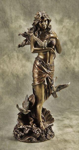 Wunderschöne Bronzierte Skulptur Der Liebesgöttin =aphrodite= Deko Geschenk 5601 Bild