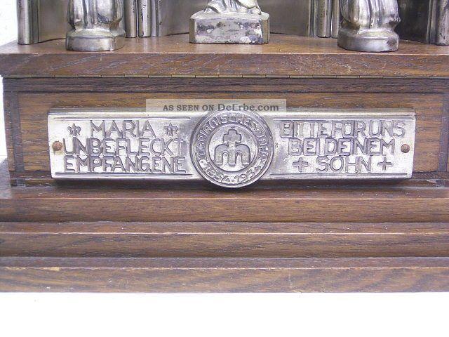 Welty - Devotionalien / Augsburg: Altar Mit Spieluhr: Marianisches Jahr 1854 - 1954 Mechanische Musik Bild