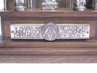 Welty - Devotionalien / Augsburg: Altar Mit Spieluhr: Marianisches Jahr 1854 - 1954 Bild