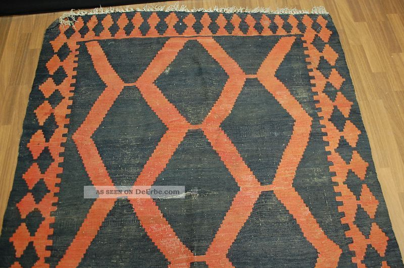 Alt Kilim Ca:370x150cm Antique Rug Tappeto Tapis Teppiche & Flachgewebe Bild
