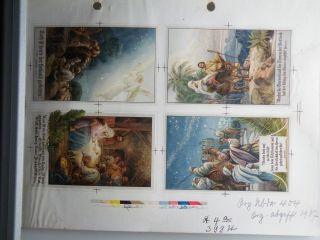 Andruck Steindruck In Punktmanier Mit 12 Farben Und Farbkeilen Von 1937 St.  399 Bild
