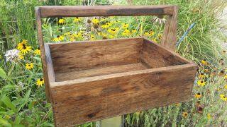 Französiche Holz Werkzeugkiste Eiche Massiv Kiste Koffer Truhe Kasten Bild