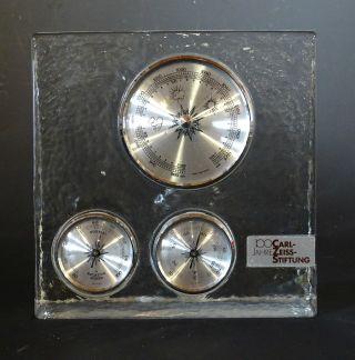 Rarität: Seltenes Barometer Im Glasblock