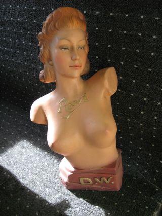 Schaufenster - Büste,  Halbakt,  Frau 50er Jahre,  Modellbüste,  Pin Up Girl Bild