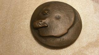 Paul Wunderlich Selbstportrait Bronze - Plakette,  Jahr: 1979,  Nr.  48 Von 1000 Bild