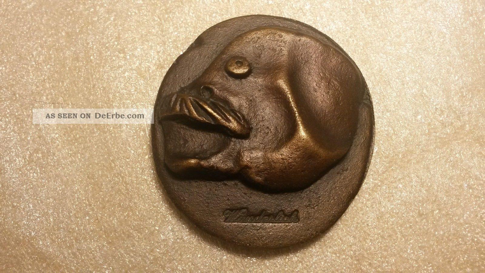 Paul Wunderlich Selbstportrait Bronze - Plakette,  Jahr: 1979,  Nr.  64 Von 1000 1950-1999 Bild