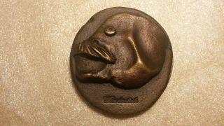 Paul Wunderlich Selbstportrait Bronze - Plakette,  Jahr: 1979,  Nr.  64 Von 1000 Bild