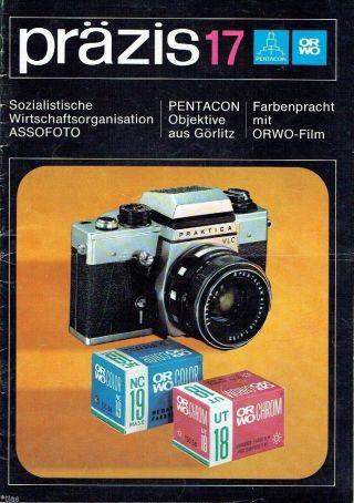 Veb Pentacon Dresden Präzis 17 Kamera Zeitschrift Ddr 1974 Praktica Vlc Llc Bild