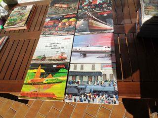 MÄrklin Kataloge 1980d 1981d 1982/83d 1983/84d 1984/85d 1985/86d 1987/88 1988/89 Bild