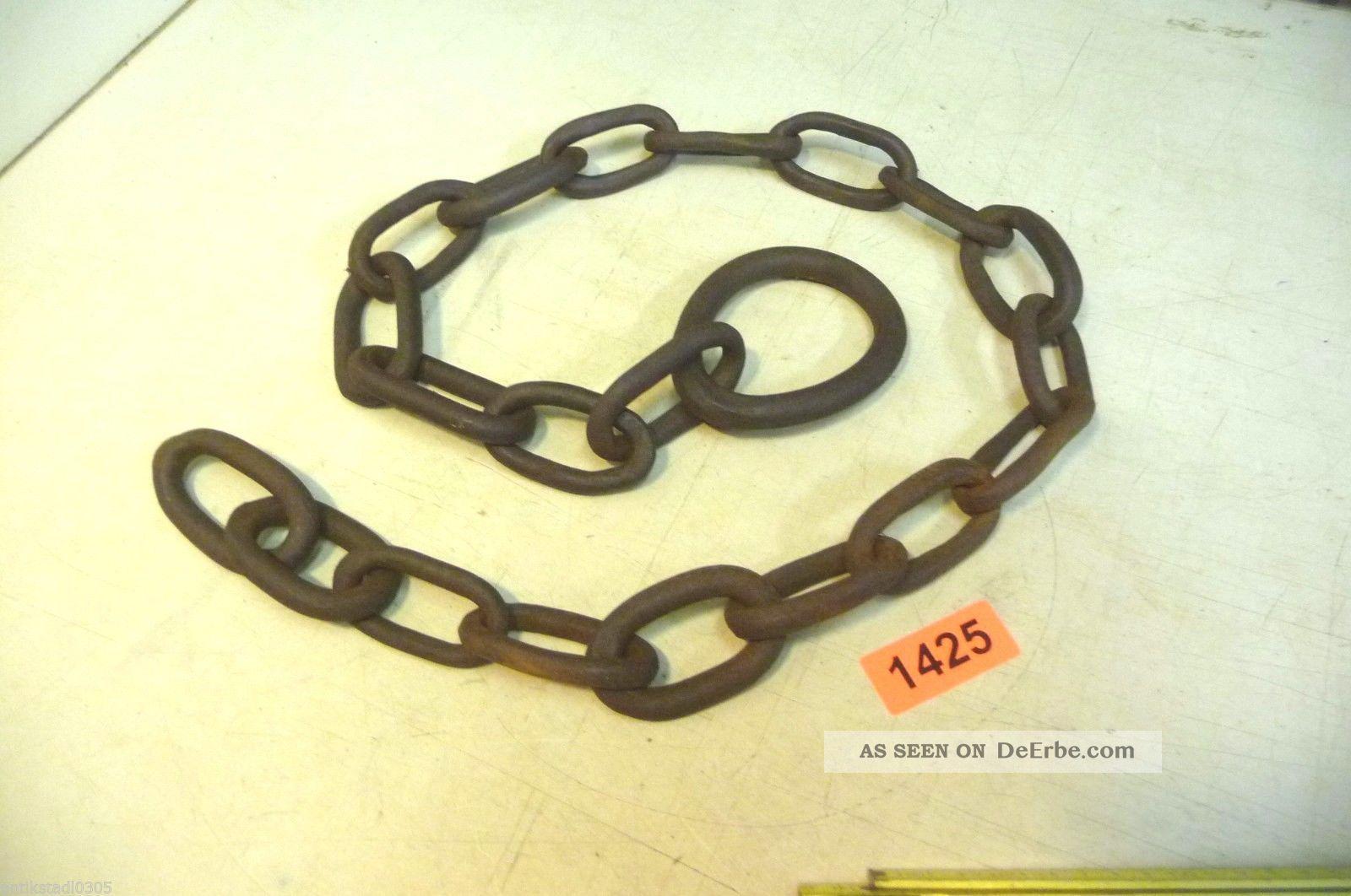Nr.  1425.  Alte Kette Eisenkette 2,  6 Kg Old Iron Chain Bauer Bild