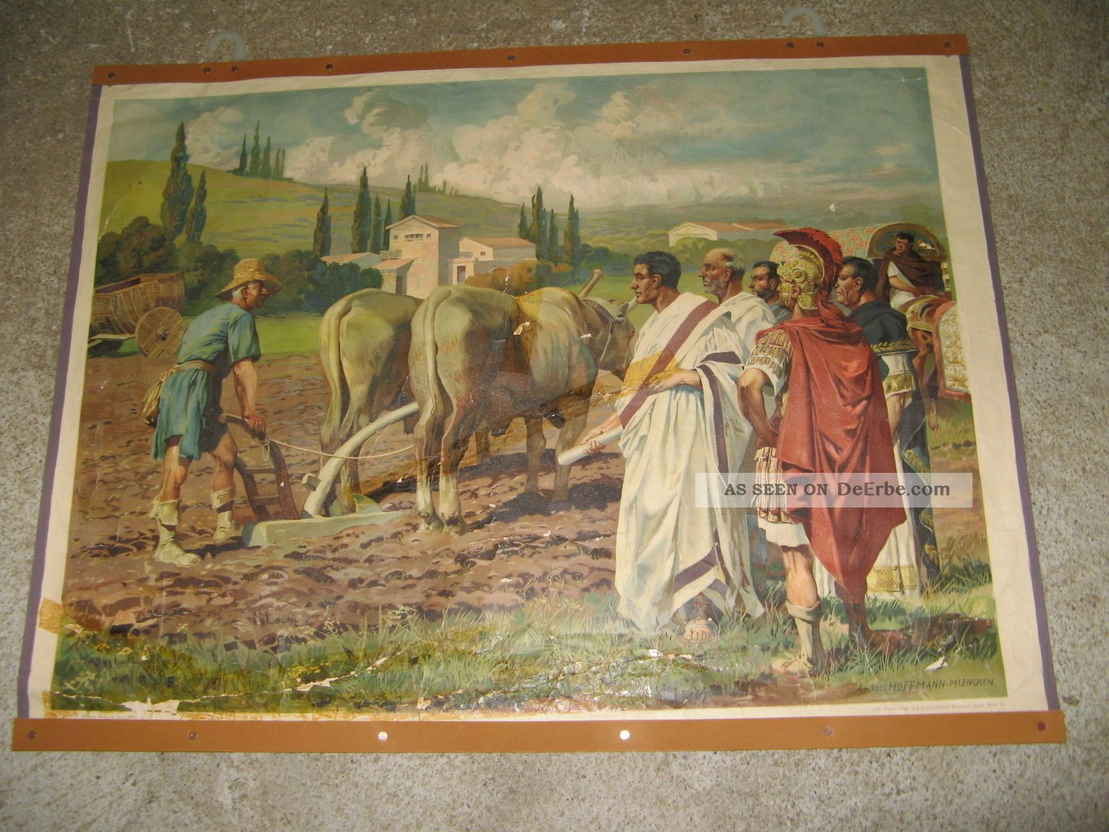 2 Alte Schautafeln,  Wandbilde/ Das Leben Der Römer Antike Bild