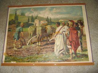 2 Alte Schautafeln,  Wandbilde/ Das Leben Der Römer Bild