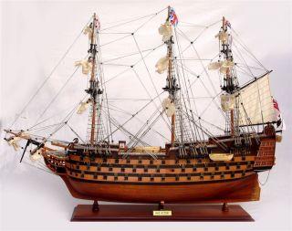 Schiffsmodell Victory,  80 Cm,  Handarbeit Aus Holz,  Rumpf Bemalt,  Fertig Montiert Bild