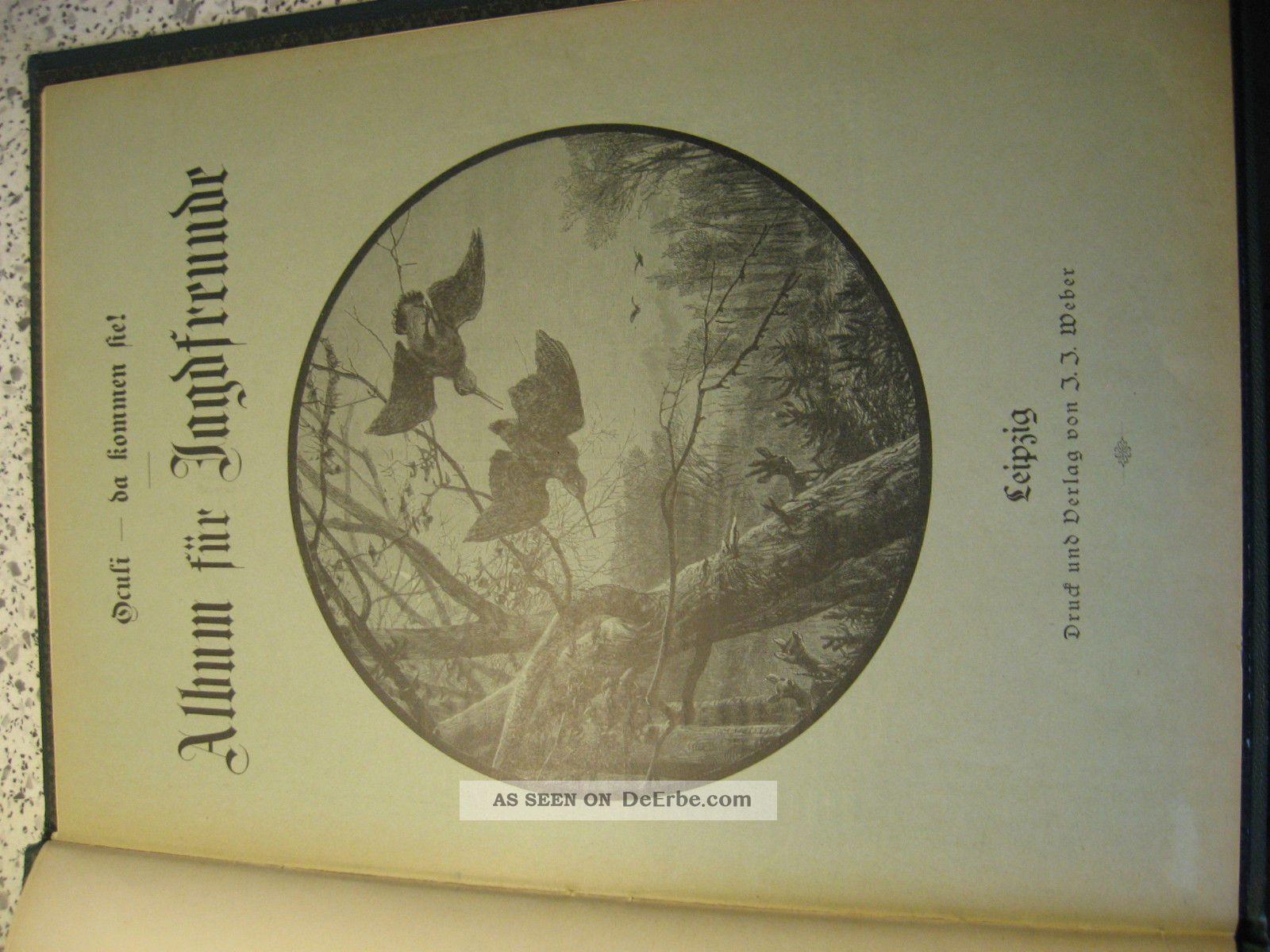 Oculi Da Kommen Sie Album Für Jäger Und Jagdfreunde Ca.  1880 Jagd & Fischen Bild