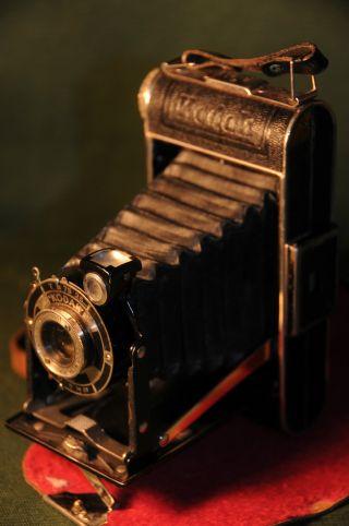 Kodak Junior 620 Um 1936 Mit Gutem Lederetui Bild