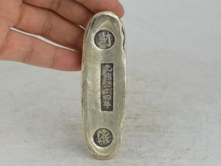 Collectible Exquisite Old Tibet Silver,  Silver Bar,  Coin Carving 財 Bild