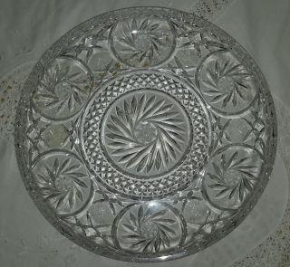 Kuchen - /tortenplatte,  Kristallglas Bleikristall Schleuderstern Bild