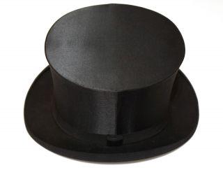 Sehr Alter Chapeau Claque Zylinder Hut, Bild