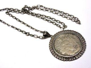 Silber 835er: Halskette Mit Münzanhänger