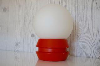 Kugel Lampe Nachttisch Opalglas Perlmut Orange Design Pilz 70er Panton Bild