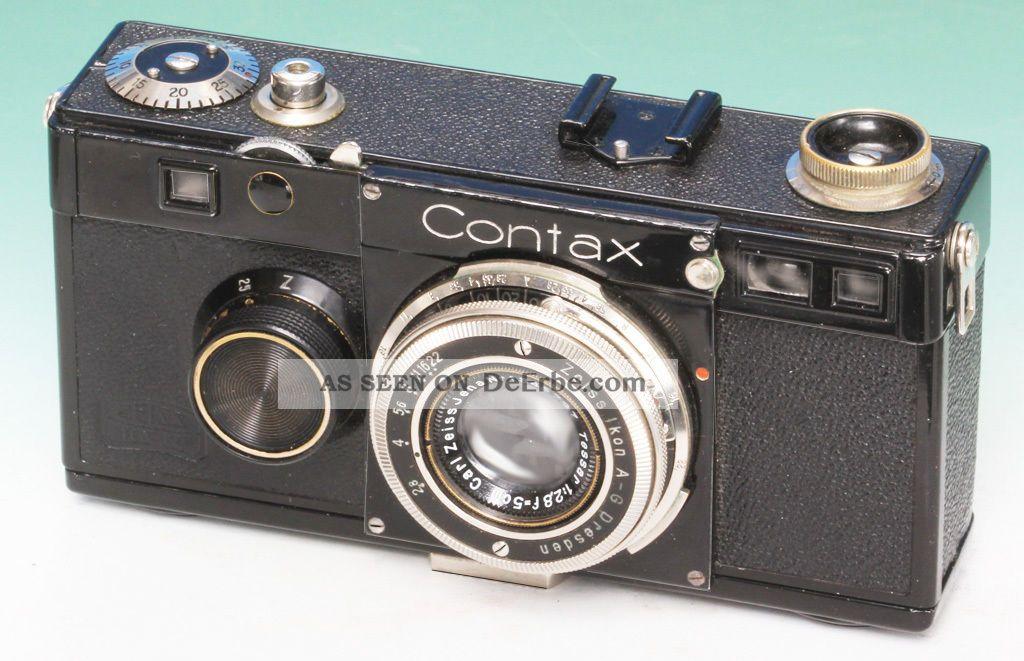 Zeiss Ikon Contax Contax I (a) V2 Dimple N°au.  21226 Tessar 2,  8/5cm Photographica Bild