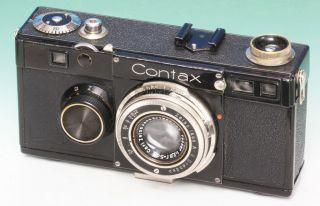 Zeiss Ikon Contax Contax I (a) V2 Dimple N°au.  21226 Tessar 2,  8/5cm Bild