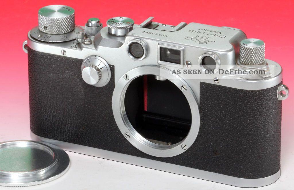 Leitz Leica Leica Iiic N°363060 Um 1940 Mit Rotem Verschlusstuch Photographica Bild