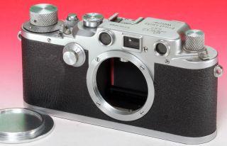 Leitz Leica Leica Iiic N°363060 Um 1940 Mit Rotem Verschlusstuch Bild