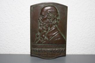 Volksturnmeisterschaft Kassel 1929 Medaille Groß Bild Ehrung Kupfer Jahn Bild