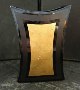 Vase Rosenthal Porcelaine Noire Drexler Studio Line Blumenvase Schwarz Gold 22cm Bild