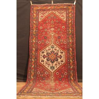 Alt Handgeknüpfter Orient Teppich Malaya Heris Old Rug Carpet Tappeto 310x126cm Bild