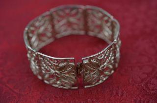 Filigranes Altes Damenarmband Armreif Silber 835 Bild