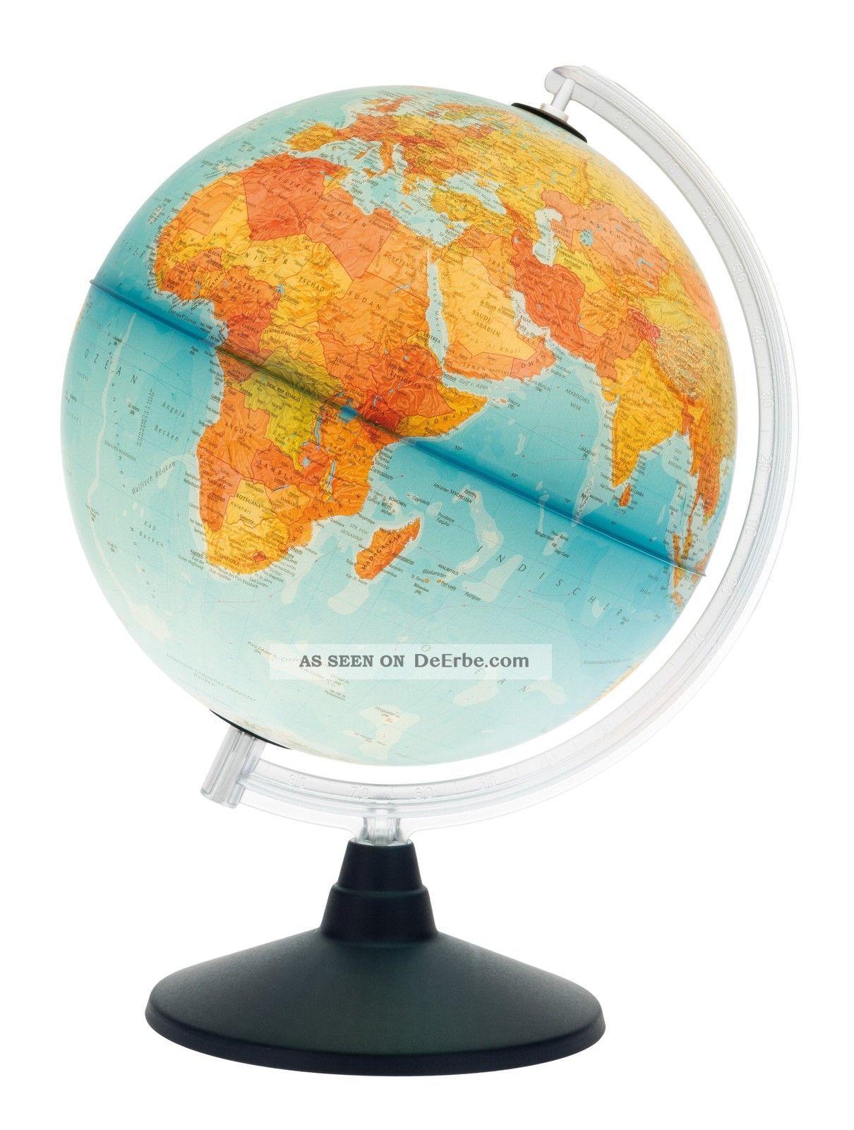 Tischglobus Weltkugel Beleuchtet Schülerglobus Lernglobus Leucht Globus Ø 30 Cm Astronom. Instrumente, Globen Bild