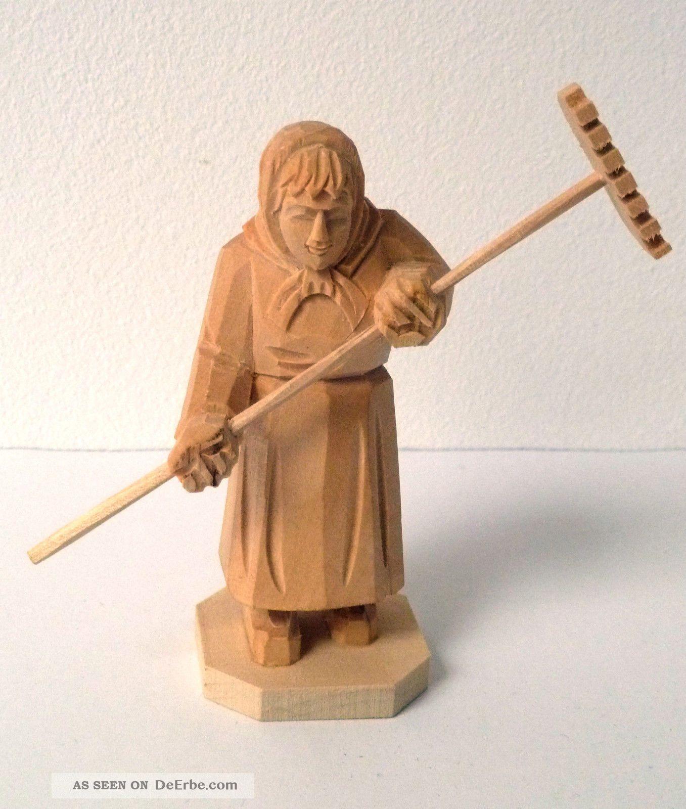 Holzfigur Frau Reschen 10cm Handgschnitzt Schnitzerei Holzarbeiten Bild