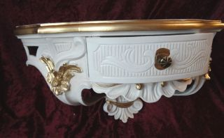 Wandkonsole/spiegelkonsolen/wandregal Barock Weiß - Gold B:50cm Cp84 Ivory Bild