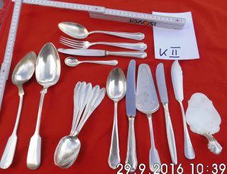 Xxxx X Besteckteile Konvolut - Silberschrott - Silber Versilbert Stempel Punze Bild