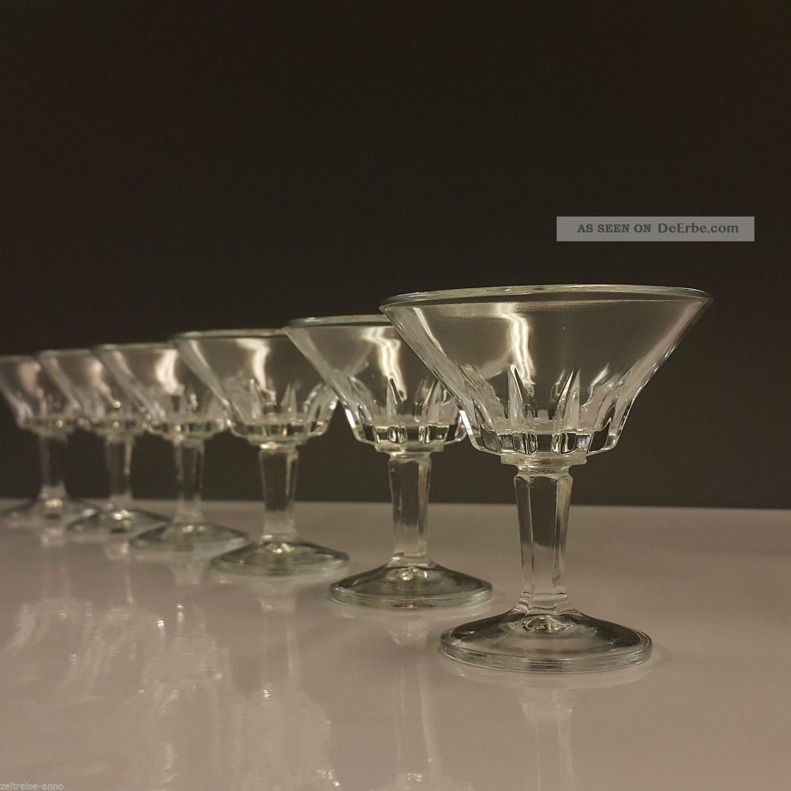 6 Cristal D`arques Likörgläser Kelchglas Regency Einreihiger Kerbschliff 7,  6cm H Kristall Bild