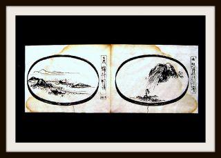 Japanische Haiga - Malerei,  Haiku - Dichtung,  Nanga,  Matsuo Bashō,  Osaka,  Um 1750 - Rar Bild