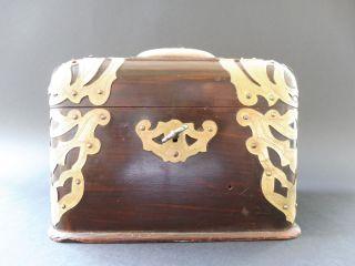 Jugendstil Nadelkissen Kassette Dose Art Nouveau Pin Cushion Box Mirror Spiegel Bild