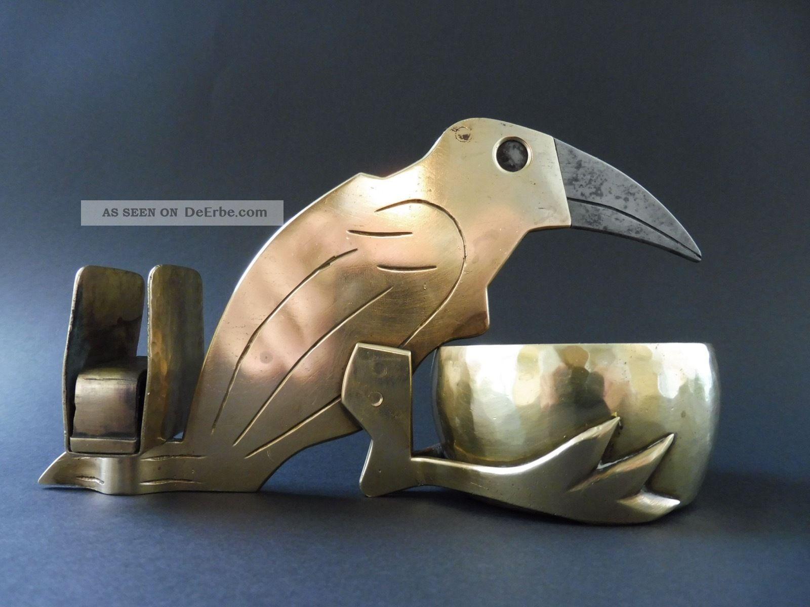 :: Jugendstil Messing Rabe Zigarrenschneider Cigar Cutter Crow Raven Art Nouveau 1890-1919, Jugendstil Bild