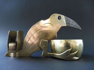 :: Jugendstil Messing Rabe Zigarrenschneider Cigar Cutter Crow Raven Art Nouveau Bild