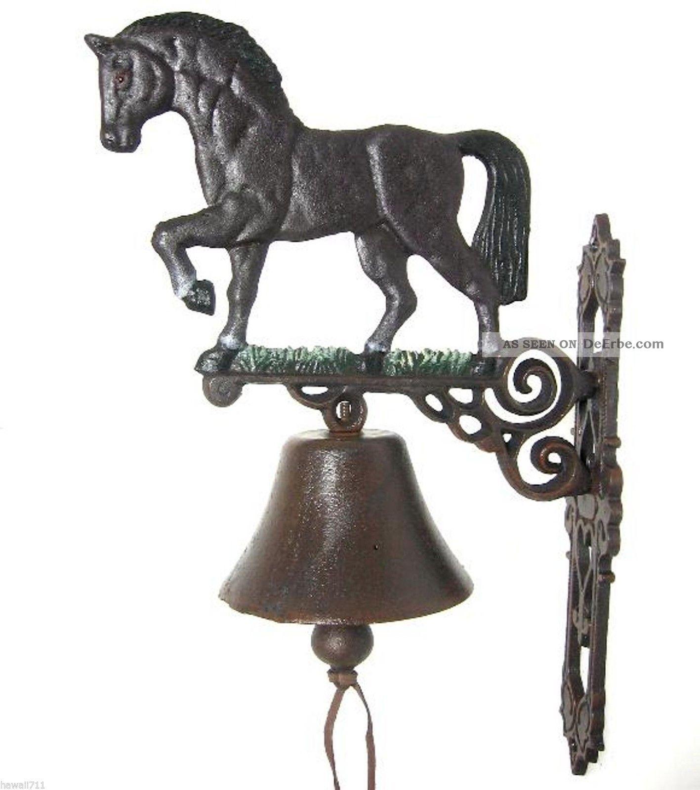 Türglocke Anik Wandglocke Glocke Gusseisen Gartenglocke Pferd Türklingel 45 Cm Nostalgie- & Neuware Bild