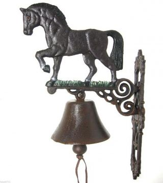 Türglocke Anik Wandglocke Glocke Gusseisen Gartenglocke Pferd Türklingel 45 Cm Bild
